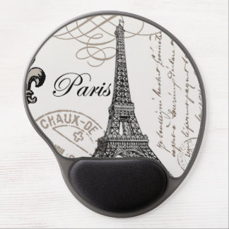 modern vintage french Eiffel Tower Gel Mouse Mat