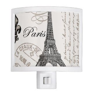 modern vintage french Eiffel Tower Night Lite