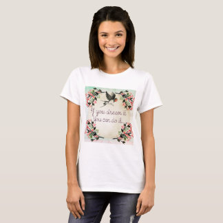 modern vintage french floral T-Shirt