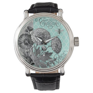 Modern Vintage french floral watch