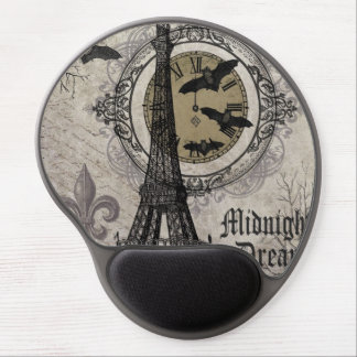 modern vintage french halloween Eiffel tower Gel Mouse Mats