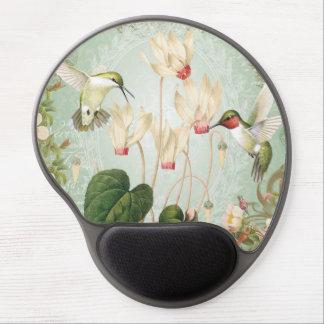 Modern Vintage French Hummingbirds Gel Mousepad