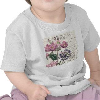 modern vintage french lavender floral t-shirt