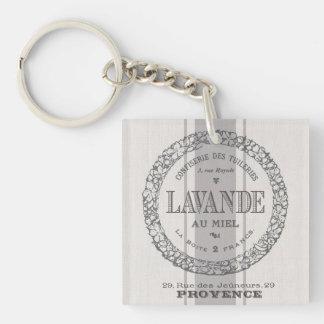 modern vintage French Lavender grain sac Keychain