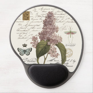 modern vintage French Lilacs Gel Mouse Pads