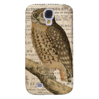 modern vintage french owl galaxy s4 cases
