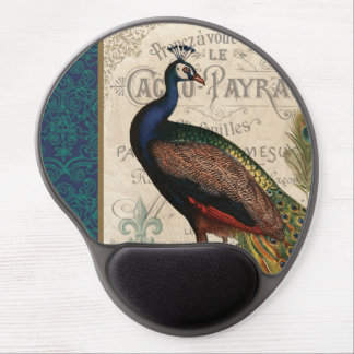 modern vintage french peacock gel mouse mats