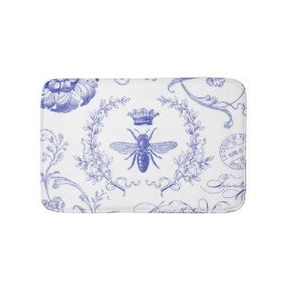 modern vintage french queen bee bath mat