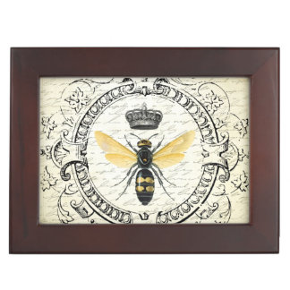 Modern vintage french queen bee memory box
