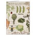 modern vintage french vegetable garden card