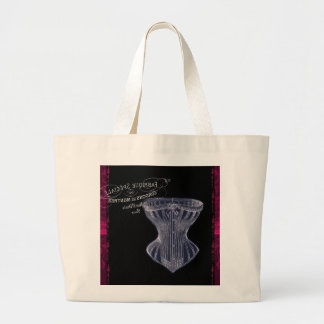 modern vintage gothic steampunk French corset Jumbo Tote Bag