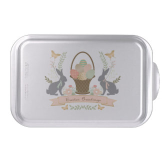 Modern Vintage Graphic Easter collage Bake Pan