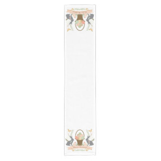 Modern Vintage Graphic Easter collage Short Table Runner
