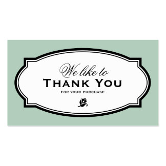 MODERN VINTAGE GREEN | BUSINESS THANK YOU CARD PACK OF STANDARD BUSINESS CARDS