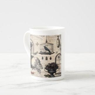 Modern Vintage Halloween Garden Tea Cup
