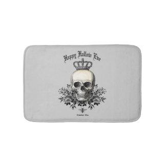 Modern Vintage Halloween skull and crown Bath Mat