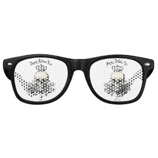 Modern Vintage Halloween skull and crown Retro Sunglasses