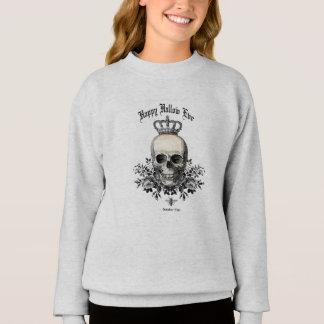 Modern Vintage Halloween skull and crown Sweatshirt