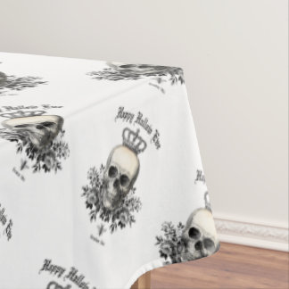 Modern Vintage Halloween skull and crown Tablecloth