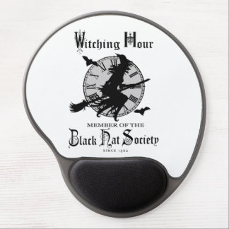 Modern Vintage Halloween witch Gel Mousepads