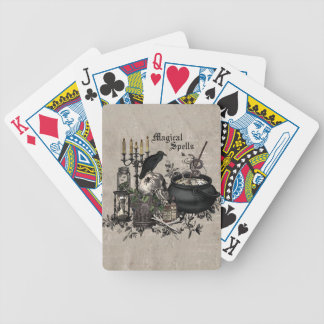 Modern vintage Halloween WITCHES BREW Bicycle Playing Cards