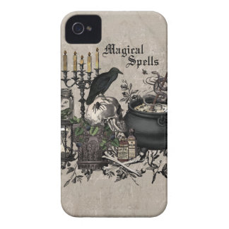 Modern vintage Halloween WITCHES BREW iPhone 4 Case-Mate Case
