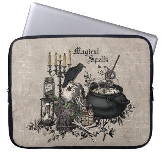 Modern vintage Halloween WITCHES BREW Laptop Sleeve