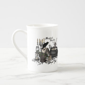 Modern vintage Halloween WITCHES BREW Tea Cup