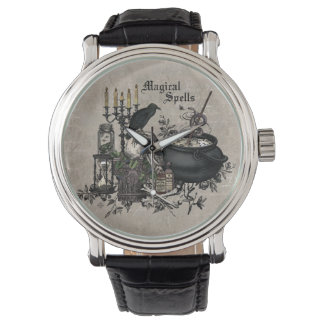 Modern vintage Halloween WITCHES BREW Watch