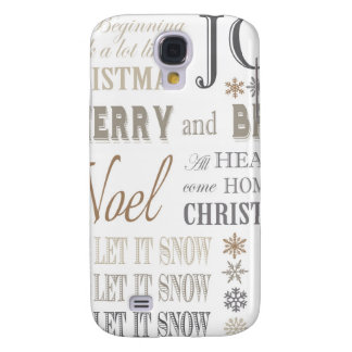 modern vintage holiday phrases galaxy s4 case