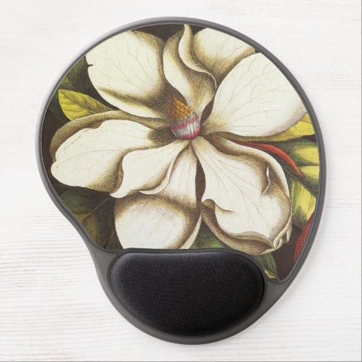 modern vintage magnolia gel mousepad