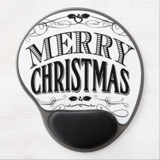modern vintage Merry Christmas Gel Mousepads