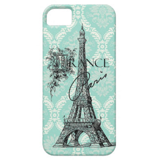Modern Vintage Paris Eiffel Tower iphone 5 case