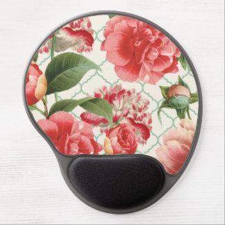 modern vintage peony gel mousepads