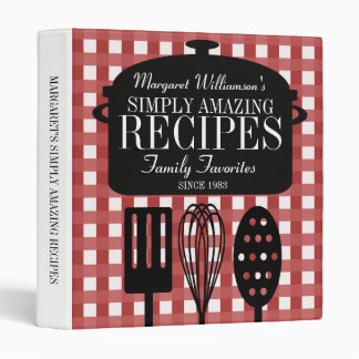 Modern Vintage Personalized Recipes Binders