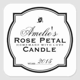 MODERN VINTAGE   PERSONALIZED SOAP & CANDLE SQUARE STICKER