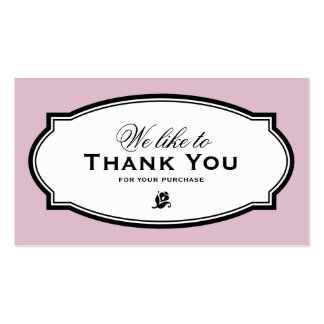 MODERN VINTAGE PINK | BUSINESS THANK YOU CARD PACK OF STANDARD BUSINESS CARDS