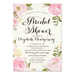 Modern Vintage Pink Floral Bridal Shower Cards