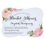 Modern Vintage Pink Floral Bridal Shower Personalized Invite