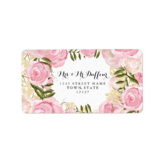 Modern Vintage Pink Floral Wedding