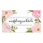 Modern Vintage Pink Floral Wedding Website Card Pack Of Standard Business Cards