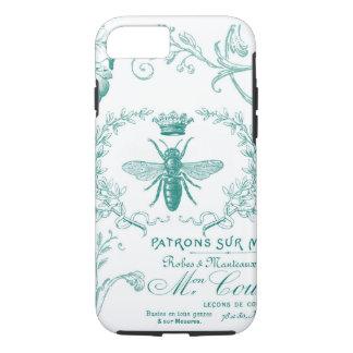 modern vintage queen bee iphone case