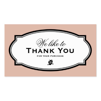 MODERN VINTAGE SALMON | BUSINESS THANK YOU CARD PACK OF STANDARD BUSINESS CARDS
