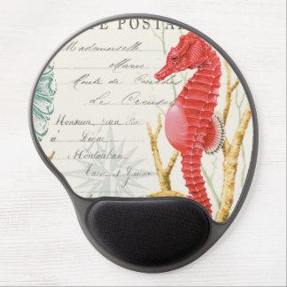 modern vintage seahorse gel mouse pads