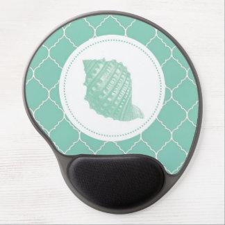 Modern Vintage Seashell Gel Mousepad