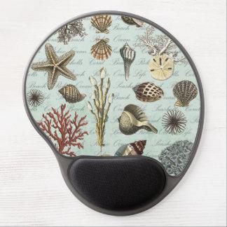 Modern Vintage Seashells Gel Mouse Pad