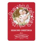 Modern Vintage Season's Greetings Photo Card | Red