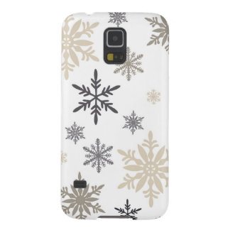 modern vintage snowflakes galaxy s5 cover