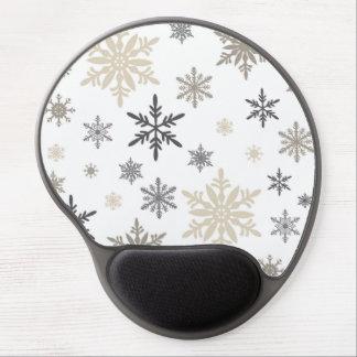 modern vintage snowflakes gel mouse pad