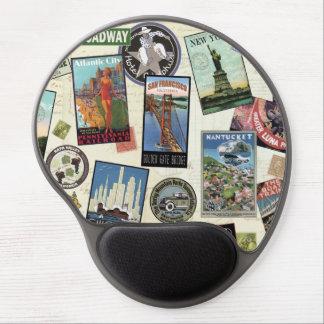 Modern Vintage Travel USA Gel Mouse Mats